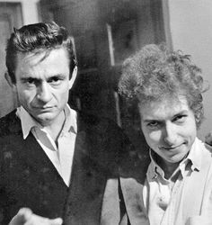 Hmm . . Photo notes: 'The day Johnny Cash met Bob Dylan'...