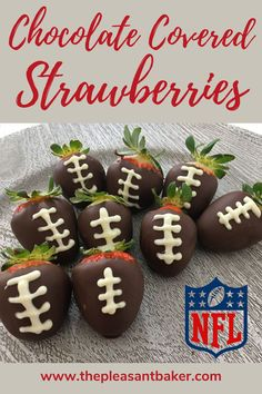 Ever wanted to learn how to make chocolate covered strawberries? Follow along with me as I make these adorable super bowl treats! #thepleasantbaker #chocolatecoveredstrawberries #superbowldessert Best Chocolate, How To Make Chocolate, Chocolate Dipped, Chocolate Recipes, Homemade Desserts, Dessert Recipes, Superbowl Desserts, Cake Decorating For Beginners, Baked Chips