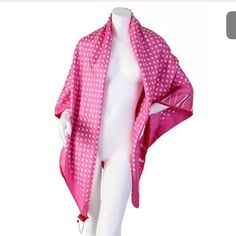 "Valentino double sided scarf pink/red new New w tags. 55"" x 55"". 100% silk. Valentino Accessories Scarves & Wraps"