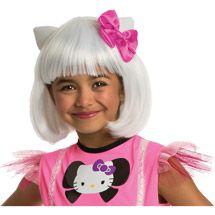 Walmart: Rubies Hello Kitty White Bob Wig Child Halloween Accessory
