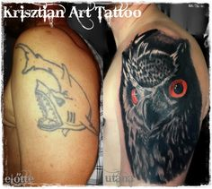Krisztian Art Tattoo - Cover up tattoo Owl