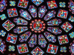 The blue used in the stain glass windows of the cathedral in Chartres is not replicated anywhere in the world. Reasons to love French...
