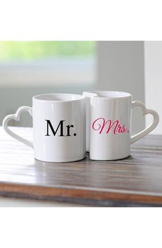 CATHY'S CONCEPTS 'For the Couple' Ceramic Coffee Mugs (Set of 2) available at #Nordstrom