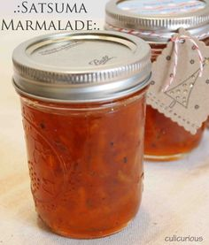 Satsuma/meyer lemon marmalade - yum - it's November and that means satsumas and lemons are ready to pick - I left out the spices and instead added a splash of orange liqueur and 4 drops of almond flavoring