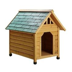 Pet Squeak 2.8 ft. L x 2.1 ft. W x 2.7 ft. H Alpine Lodge Small Dog House-0007S - The Home Depot $89