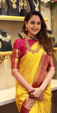 Pragya Jaiswal Hot in Saree Collections Wedding Saree Blouse, Saree Dress, South Silk Sarees, South Indian Sarees, Wedding Saree Collection, Bridal Collection, Jewelry Collection, Set Saree, Saree Hairstyles