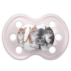 tabby kittens baby pacifier