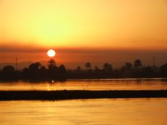 sunrise on the Nile river