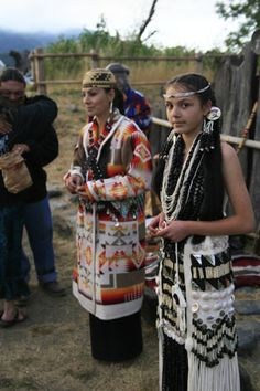 """Hoopa// From the Two Rivers Tribune article, Rebirth Of The Flower Dance, by Allie Hostler. """"Wendy George subtly smiles at the conclusion of her daughter Deja's flower dance. The George family will hold a flower dance this week for their youngest daughter, Evelyn. / Photo courtesy of Wendy George."""""""
