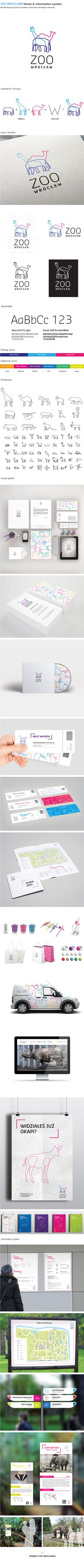 ZOO WROCLAW © on Behance by Agata Szota. Long pin by great packaging and branding PD