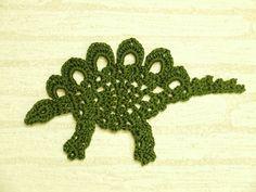 Motif de Stegosaurus (avec la figure tricot, dinosaure, Sutegozaurusu, garçon): Crocheter un peu