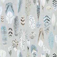 Quill Duck Egg Wallpaper | Designers Guild