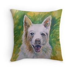 Custom Pet Portrait Cushion Your Pet by StudioEmmaKaufmann on Etsy