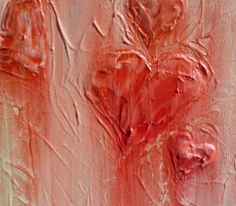 Valentine's day painting Heart painting love by LAURADALLAGATA, $30.00