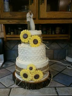 My daughter's rustic wedding cake