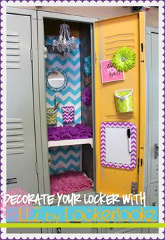 Decorate your Locker with LLZ by LockerLookz - A girl and a glue gun #LLZGIRLZ