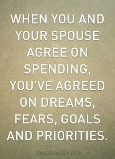 Agree With Spouse on Spending - daveramsey.com