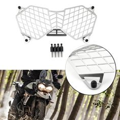 Triumph Motorcycle Parts, Motorcycle Headlight, Triumph Motorcycles, Triumph Tiger 800 Xc, Grill Guard, Motorcycle Parts And Accessories, Cover, Vehicle, Material