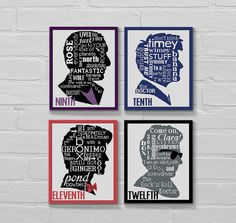 Pattern cross stitch SET 4 Doctor Who Quotesgrams by LolitaMade