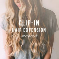 Clip in hair extensions secret