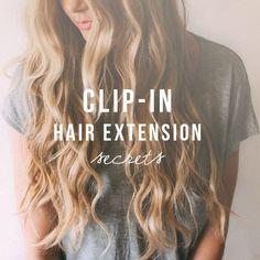 Clip in hair extensions secret