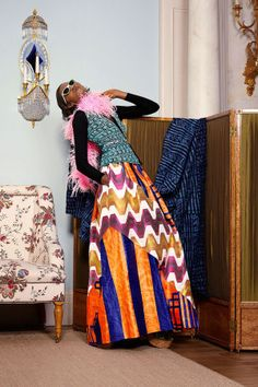 Duro Olowu Spring 2015 Ready-to-Wear Collection - Vogue African Inspired Fashion, African Print Fashion, African Prints, Fashion Fabric, Fashion Prints, Fashion Week, Fashion Show, Fashion Styles, Duro Olowu