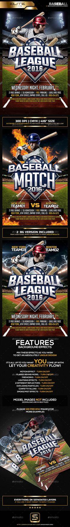 Baseball League Flyer Template PSD. Download here: http://graphicriver.net/item/baseball-league-flyer-template/14686834?ref=ksioks