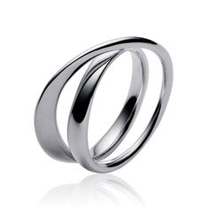 Georg Jensen Mobius Sterling Silver Crossover Dress Ring
