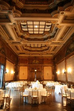 Essentially, I do not like reception halls for a wedding but the high ceilings and beautiful detailed walls, something about this venue looks vintage and unique