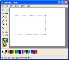 Making works of art in Microsoft Paint. | 25 Things That Were Totally Normal In 1999