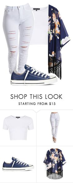 """Untitled #339"" by taylorywomack ❤ liked on Polyvore featuring Topshop and Converse"