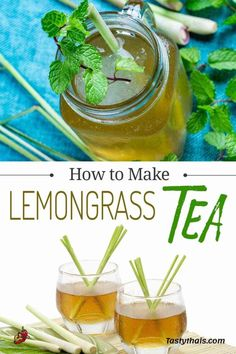 Lemongrass Recipes, Winter Drinks, Summer Drinks, Sweet Basil Thai, Thai Tea, Thai Cooking, Cooking Ingredients, Non Alcoholic Drinks, Recipes