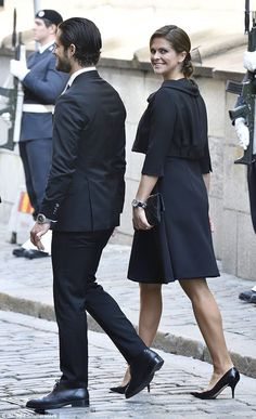 Princess Madeleine and Crown Princess Victoria steal the show as Swedish royals gather for the state Opening of Parliament in Stockholm, Sept. 12, 2017