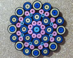 Rolled Paper Magnet Quilling Quilled Mandala by PaperXanadu