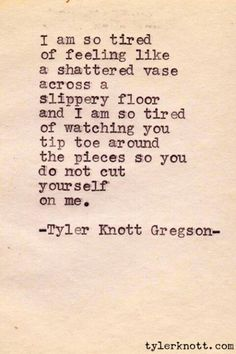 Tyler Knott Gregson (depression and mental health)