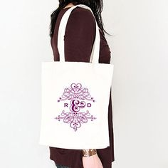 Fanciful Monogram Personalised Tote Bag - Confetti.co.uk