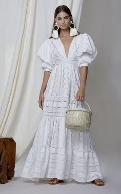 M'O Exclusive Mademoiselle Sophie Cotton Eyelet Dress by JOHANNA ORTIZ for Preorder on Moda Operandi