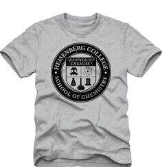 Breaking Bad Heisenberg College School of Chemistry Adult T-Shirt