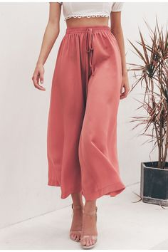 Simplee Elastic high waist wide leg pants women Solid lace up trousers streetwear pants Female pockets plus size summer pants . Ankle Length Pants, Wide Leg Pants, Loose Pants, Winter Fashion Outfits, Fashion Pants, Summer Outfits, Lace Up Trousers, Rainbow Laces, Streetwear Summer