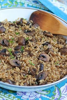 Brown rice gets a makeover with garlic and fresh herbs then baked oven baked brown rice hearty healthy and perfectly cooked every time ccuart Images