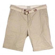 SCOTCH & SODA Beige Belted Shorts