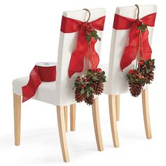 Set of Four Pinecone Chair Swags