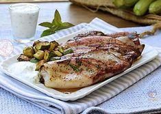 CALAMARI ALLA GRIGLIA ricetta secondo leggero Gnocchi, Food To Make, Seafood, Pork, Food And Drink, Turkey, Chicken, Cooking, Recipes