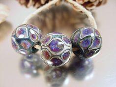 Lampwork glass bead set Handmade artisan glass by AvasBeadGarden, $18.00