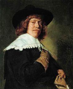 Франс Халс (1582 - 1666) Портрет молодого человека с перчаткой в руке 1650 (холст, масло), фламандская шк, барокко