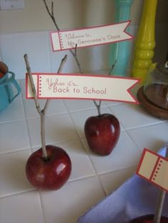back to school place cards or table decor