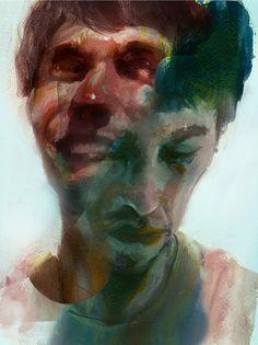 Art of Sishir Bommakanti - makes me wonder if the artist suffered or knew someone who suffered from Bipolar disorder . Arte Bipolar, Illustrations, Illustration Art, Advanced Higher Art, Mental Health Art, Collage Portrait, A Level Art, Ap Art, Gcse Art