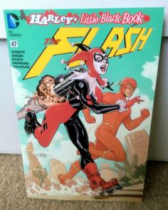 Straight from our unbagging, it's Terry and Rachel Dodson's The Flash Harley's Little Black Book variant! DC Comics - Harley Quinn - Harleen Quinzel - Barry Allen
