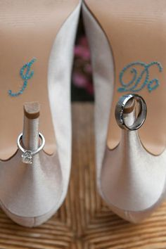 """i shoe"" idea for save the date. This would be cute with those other shoes that you liked and it would have your blue that you need :) @Megan Ward Ward Ward Henderson 