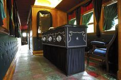 *THE LINCOLN FUNERAL TRAIN ~ is a full size replica of the train that carried the mortal remains of Abraham Lincoln from Washington, D.C. to Springfield, Ill. in May of 1865.